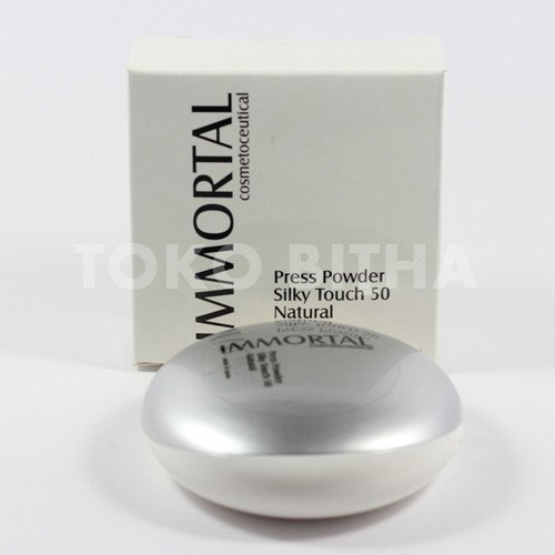 BEDAK PADAT IMMORTAL PRESS POWDER SILKY TOUCH SPF50 BEDAK PLUS SUNBLOCK SPF50